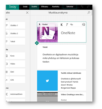 Onenote ja Connectorit, Office 365